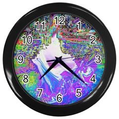 Splash1 Wall Clock (black) by icarusismartdesigns