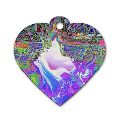 Splash1 Dog Tag Heart (two Sided) by icarusismartdesigns