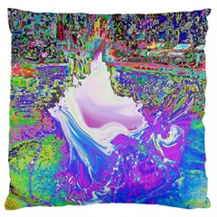 Splash1 Large Cushion Case (two Sided)  by icarusismartdesigns