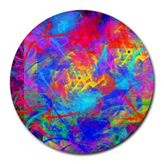 Colour Chaos  8  Mouse Pad (round) by icarusismartdesigns