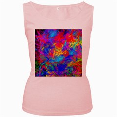 Colour Chaos  Women s Tank Top (pink) by icarusismartdesigns