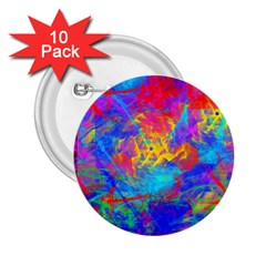 Colour Chaos  2 25  Button (10 Pack) by icarusismartdesigns