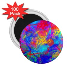 Colour Chaos  2 25  Button Magnet (100 Pack) by icarusismartdesigns