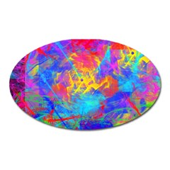 Colour Chaos  Magnet (oval) by icarusismartdesigns