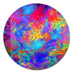 Colour Chaos  Magnet 5  (round) by icarusismartdesigns