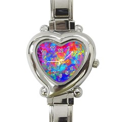 Colour Chaos  Heart Italian Charm Watch  by icarusismartdesigns