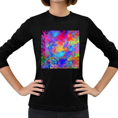 Colour Chaos  Women s Long Sleeve T Shirt (dark Colored) by icarusismartdesigns