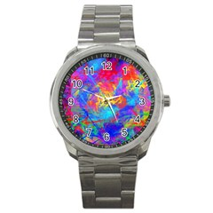 Colour Chaos  Sport Metal Watch by icarusismartdesigns