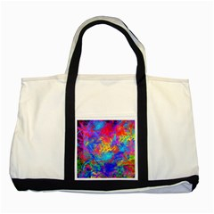 Colour Chaos  Two Toned Tote Bag by icarusismartdesigns