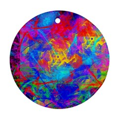 Colour Chaos  Round Ornament (two Sides) by icarusismartdesigns