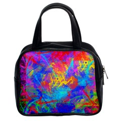 Colour Chaos  Classic Handbag (two Sides) by icarusismartdesigns