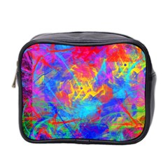 Colour Chaos  Mini Travel Toiletry Bag (two Sides) by icarusismartdesigns