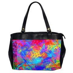 Colour Chaos  Oversize Office Handbag (two Sides) by icarusismartdesigns