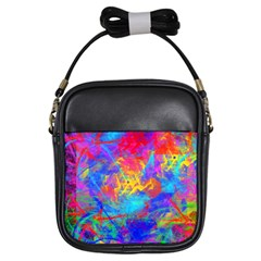 Colour Chaos  Girl s Sling Bag by icarusismartdesigns