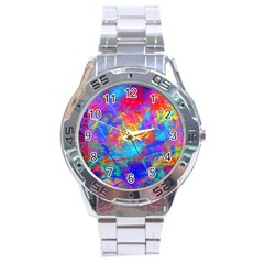 Colour Chaos  Stainless Steel Watch by icarusismartdesigns