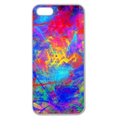 Colour Chaos  Apple Seamless Iphone 5 Case (clear) by icarusismartdesigns