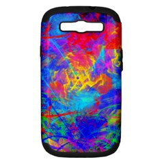 Colour Chaos  Samsung Galaxy S Iii Hardshell Case (pc+silicone) by icarusismartdesigns