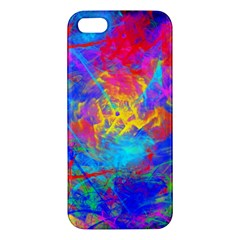 Colour Chaos  Iphone 5s Premium Hardshell Case by icarusismartdesigns