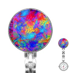 Colour Chaos  Stainless Steel Nurses Watch by icarusismartdesigns