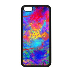 Colour Chaos  Apple Iphone 5c Seamless Case (black) by icarusismartdesigns