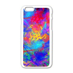 Colour Chaos  Apple Iphone 6 White Enamel Case by icarusismartdesigns
