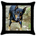 doberman pinscher Throw Pillow Case (Black)