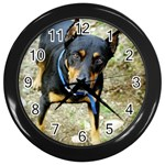 doberman pinscher Wall Clock (Black)