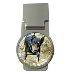 doberman pinscher Money Clip (Round)