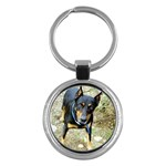 doberman pinscher Key Chain (Round)