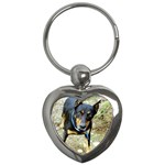 doberman pinscher Key Chain (Heart)