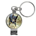doberman pinscher Nail Clippers Key Chain