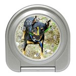 doberman pinscher Travel Alarm Clock