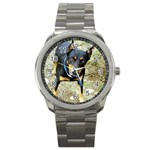 doberman pinscher Sport Metal Watch