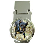 doberman pinscher Money Clip Watch