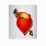 Heart Arrow White Mug