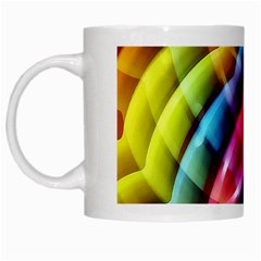 Multicolored Abstract Pattern Print White Coffee Mug by dflcprints