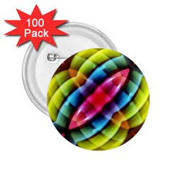 Multicolored Abstract Pattern Print 2 25  Button (100 Pack) by dflcprints
