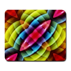 Multicolored Abstract Pattern Print Large Mouse Pad (rectangle) by dflcprints