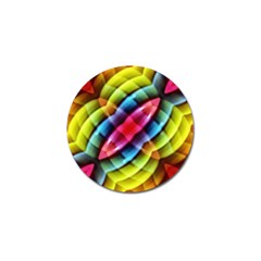Multicolored Abstract Pattern Print Golf Ball Marker by dflcprints