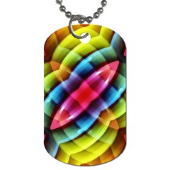 Multicolored Abstract Pattern Print Dog Tag (two Sided)  by dflcprints
