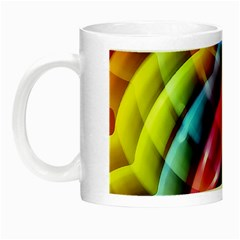 Multicolored Abstract Pattern Print Glow In The Dark Mug by dflcprints