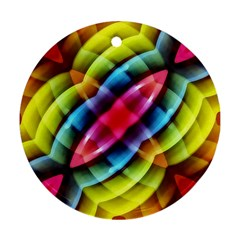 Multicolored Abstract Pattern Print Round Ornament (two Sides) by dflcprints