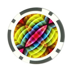 Multicolored Abstract Pattern Print Poker Chip by dflcprints