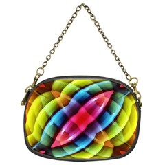 Multicolored Abstract Pattern Print Chain Purse (one Side) by dflcprints