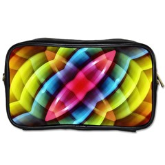Multicolored Abstract Pattern Print Travel Toiletry Bag (one Side) by dflcprints