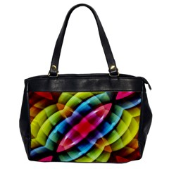 Multicolored Abstract Pattern Print Oversize Office Handbag (one Side) by dflcprints