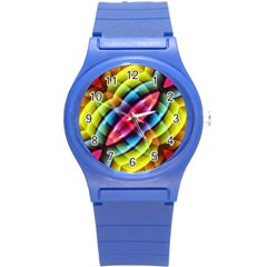 Multicolored Abstract Pattern Print Plastic Sport Watch (small) by dflcprints