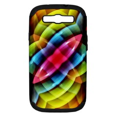 Multicolored Abstract Pattern Print Samsung Galaxy S Iii Hardshell Case (pc+silicone) by dflcprints