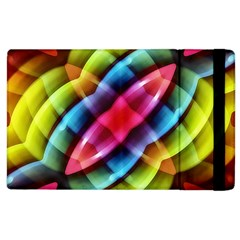Multicolored Abstract Pattern Print Apple Ipad 3/4 Flip Case by dflcprints