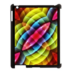 Multicolored Abstract Pattern Print Apple Ipad 3/4 Case (black) by dflcprints